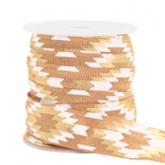 Elastic ribbon aztec Camel Brown