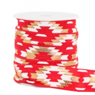 Elastic ribbon aztec Red