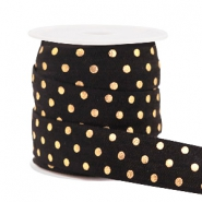 Elastic ribbon dots Black