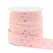 Elastic ribbon dots Light Pink