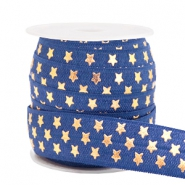 Elastic ribbon stars Dark Blue
