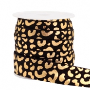 Elastic ribbon leopard Black
