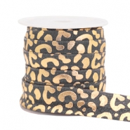 Elastic ribbon leopard Grey