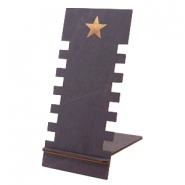 Jewellery display wood star Black