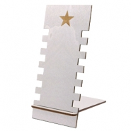 Jewellery display wood star Silver