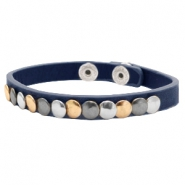 Ready-made Bracelets with studs Dark Blue