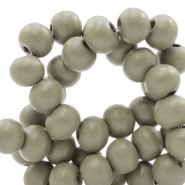 Wooden beads round 6 mm Khaki Green