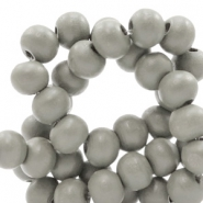 Wooden beads round 6 mm Mild Greige Taupe