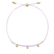 Ready-made bracelets with small bead Lavender Purple-Gold