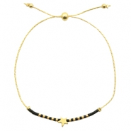 Ready-made bracelets with star Black-Gold