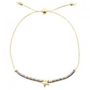Ready-made bracelets with star Grey-Gold