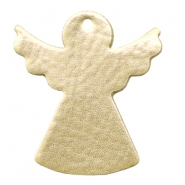DQ European leather pendants metallic angel Light Gold