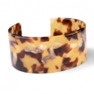 Ready-made Bracelets resin Cognac Brown