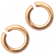 DQ European metal findings jump ring 3mm Rose Gold (nickel free)