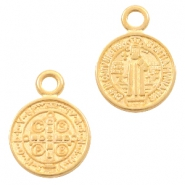 DQ European metal charms Jesus 9mm Gold (nickel free)