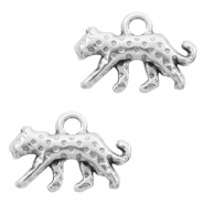 DQ European metal charms leopard Antique Silver (nickel free)