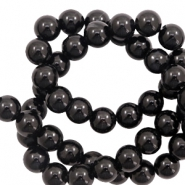 6 mm natural stone beads agate Black