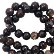 6 mm natural stone beads agate Dark Brown