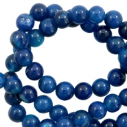8 mm natural stone beads agate Marine Blue