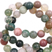 8 mm natural stone beads agate Green Mix