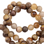 6 mm natural stone beads agate Brown Mix
