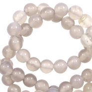 4 mm natural stone beads agate Grey Opal