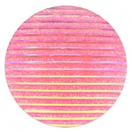 Basic cabochon 35mm stripe Pink Holographic