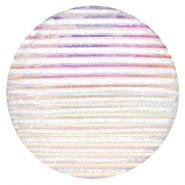 Basic cabochon 35mm stripe Silver Crystal Holographic