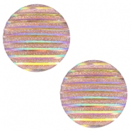 Basic cabochon 20mm stripe Champagne Holographic