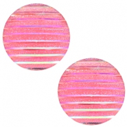 Basic cabochon 20mm stripe Pink Holographic