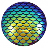 Basic cabochon 35mm mermaid Cobalt Blue Holographic
