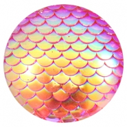 Basic cabochon 35mm mermaid Pink Holographic