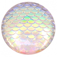 Basic cabochon 35mm mermaid Silver Crystal Holographic