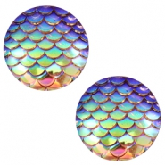 Basic cabochon 20mm mermaid Champagne Holographic