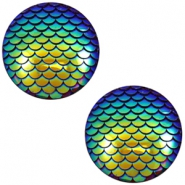 Basic cabochon 12mm mermaid Cobalt Blue Holographic