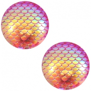 Basic cabochon 12mm mermaid Pink Holographic