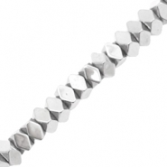 Hematite beads faceted disc Silver