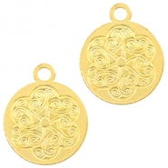 Metal charms coin 18mm Gold