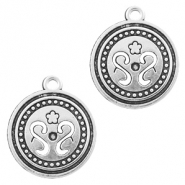 Metal charms coin 19mm Silver