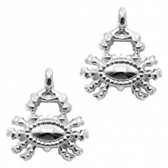 Metal charms crab Silver