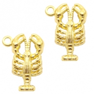 Metal charms lobster Gold