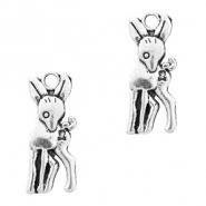 Metal charms deer Antique Silver