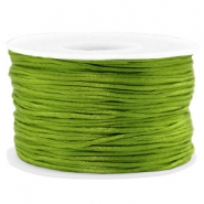 Macramé bead cord 1.5mm satin Light Olive Green