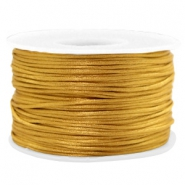 Macramé bead cord 1.5mm satin Golden Brown