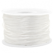 Macramé bead cord 1.5mm satin White