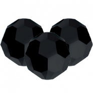 Swarovski Elements faceted beads 8mm Jet Black