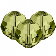 Swarovski Elements faceted beads 8mm Khaki Green