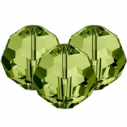 Swarovski Elements faceted beads 8mm Olivine Green