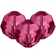 Swarovski Elements faceted beads 8mm Fuchsia