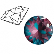 Swarovski Elements 1088-SS 39 chaton (8mm) Crystal Burgundy DeLite